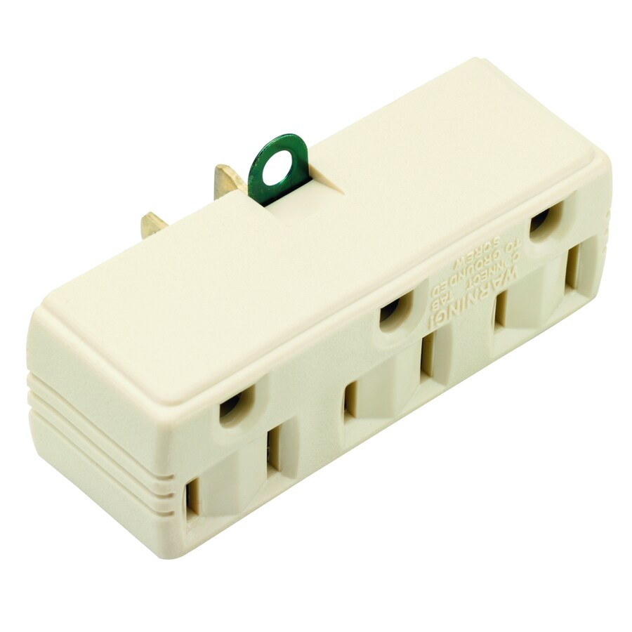 Pass & Seymour/Legrand 2-Wire to 3-Wire Single to Triple Ivory Basic Adapter