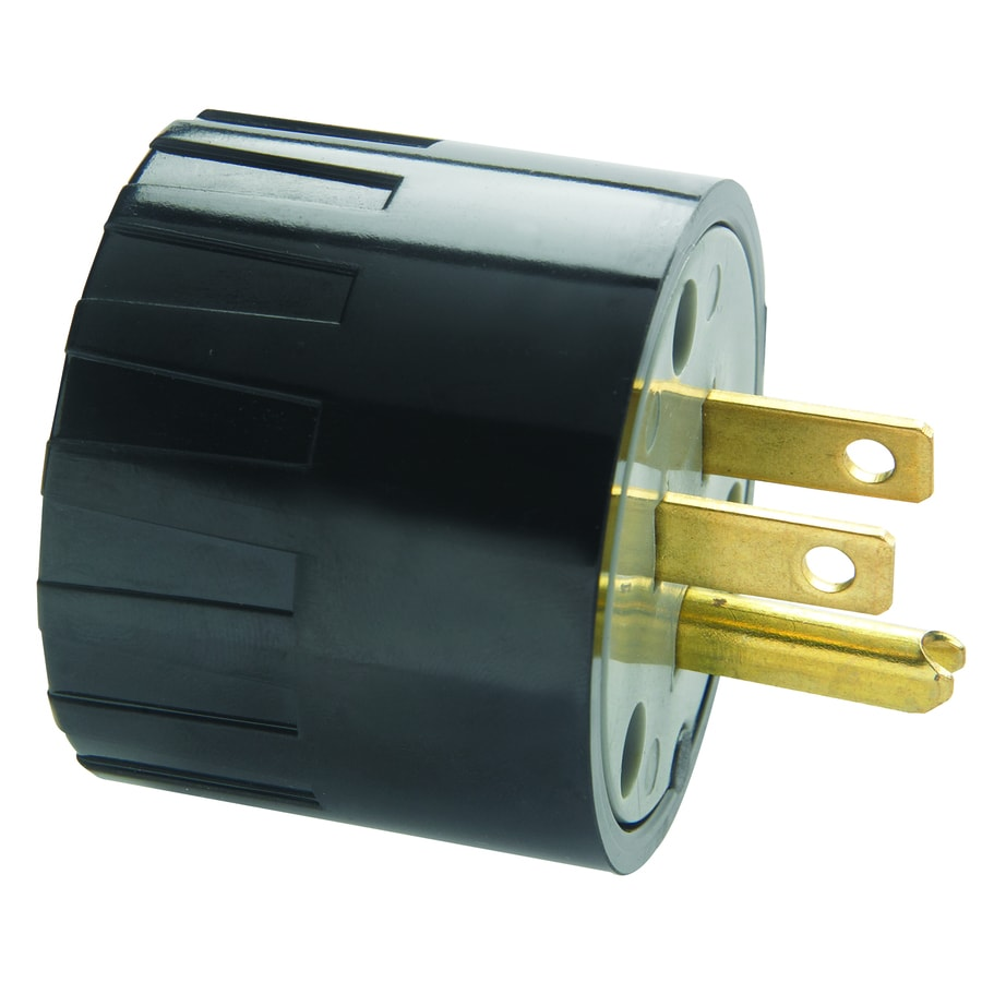 Pass & Seymour/Legrand 15-Amp 3-wire Grounding Single To Single Black Adapter