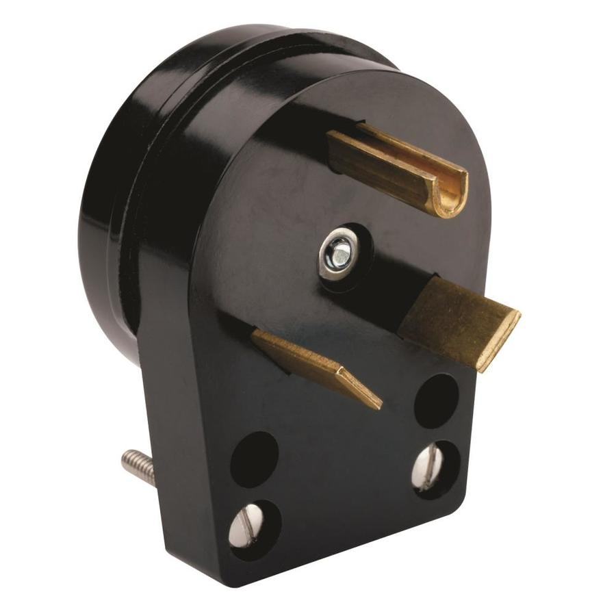 Pass & Seymour/Legrand 15-Amp 125-Volt Black 3-wire Grounding Plug