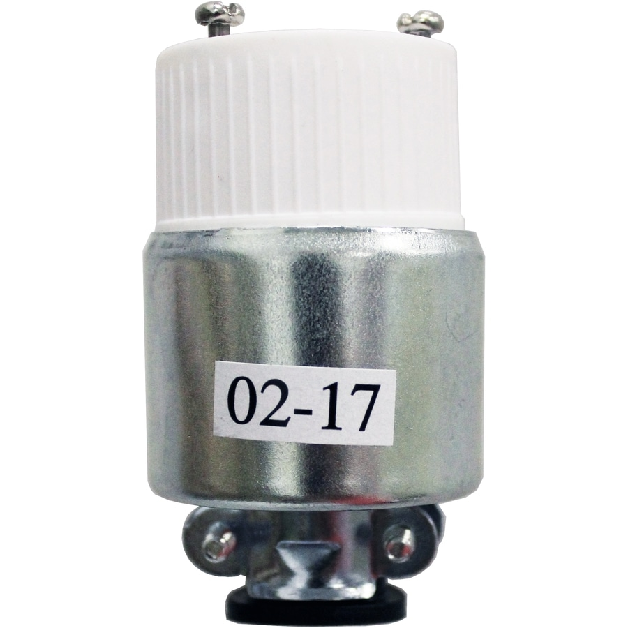 Legrand 15-Amp 125-Volt Silver 3-Wire Grounding Connector