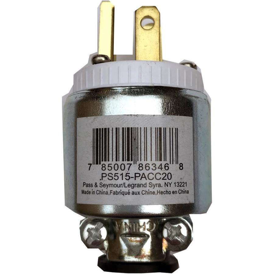 Shop Pass & Seymour/Legrand 15-Amp 125-Volt Silver 3-Wire Grounding ...