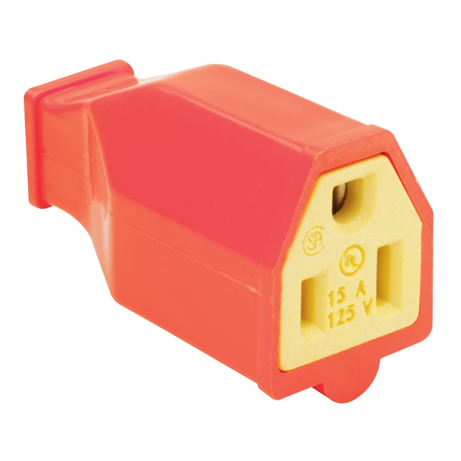 Pass & Seymour/Legrand 15-Amp 125-Volt Orange 3-wire Grounding Connector