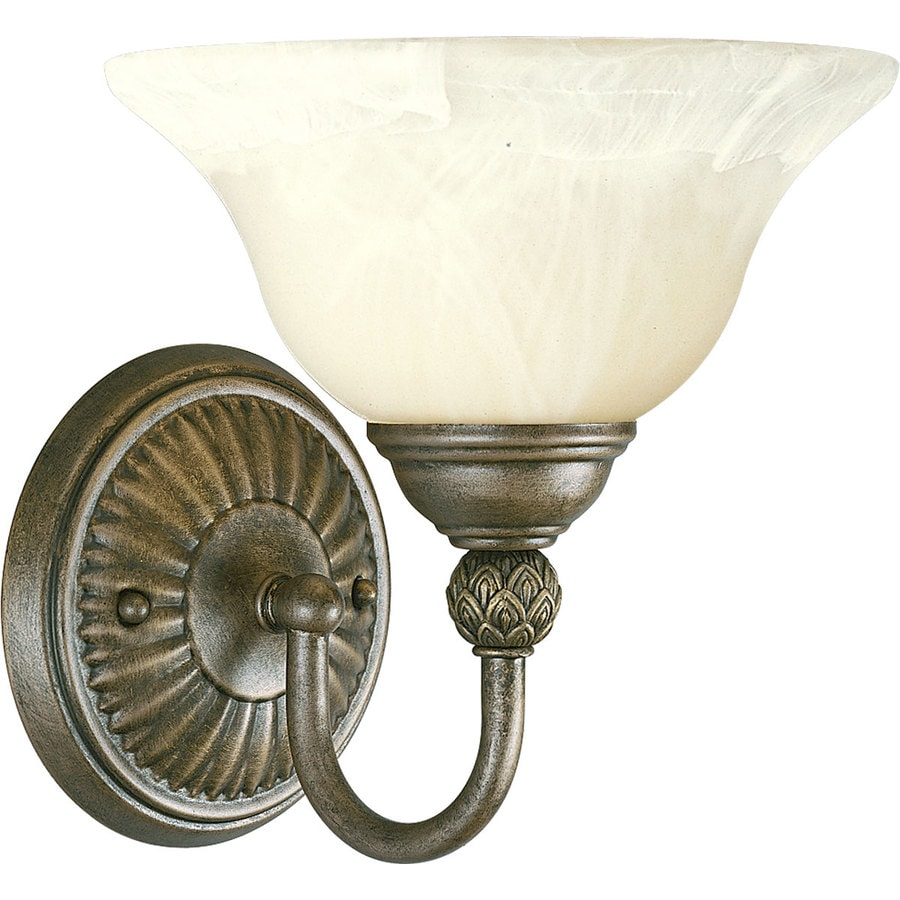 Progress Lighting Savannah 1-Light 9.25-in Burnished Chestnut Bell Vanity Light