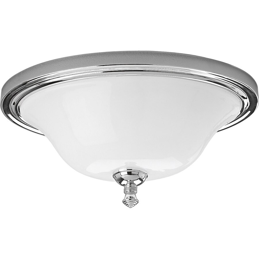Progress Lighting Victorian 16-in W Chrome Standard Flush Mount Light