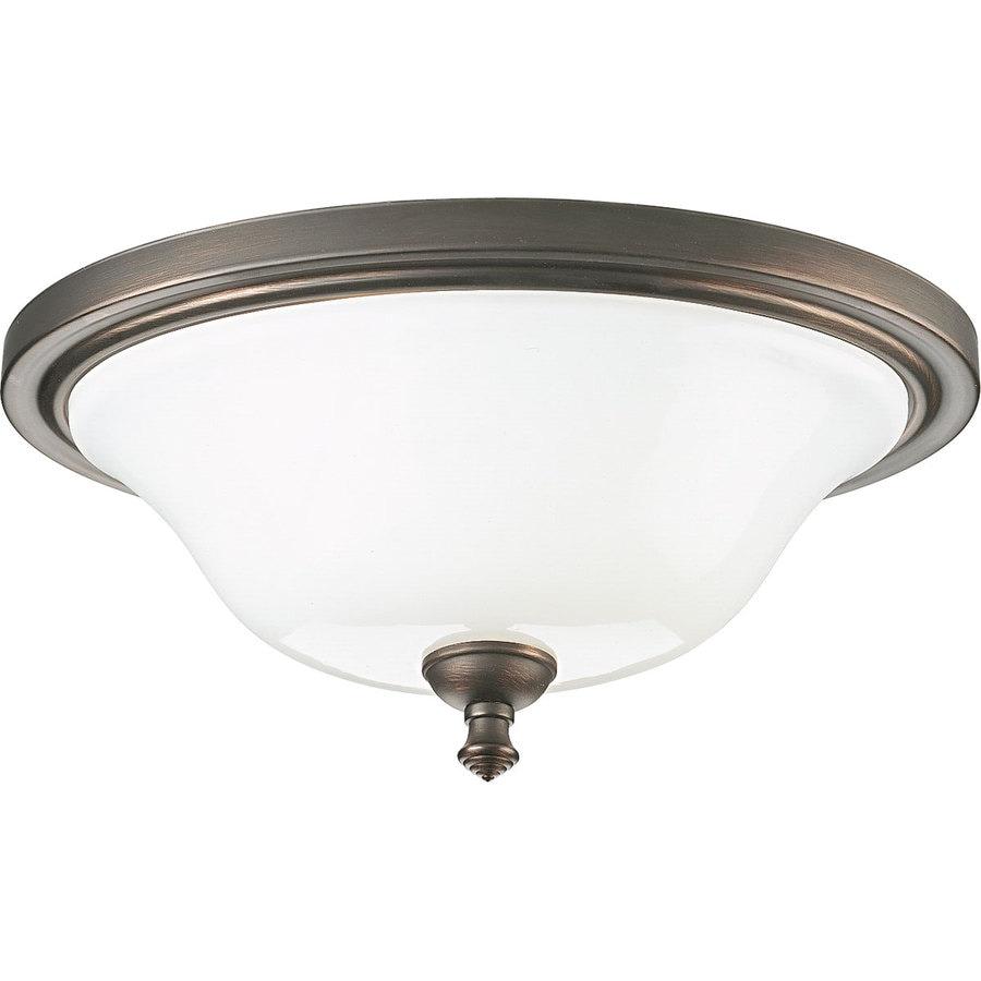 Progress Lighting Victorian 16-in W Venetian Bronze Standard Flush Mount Light