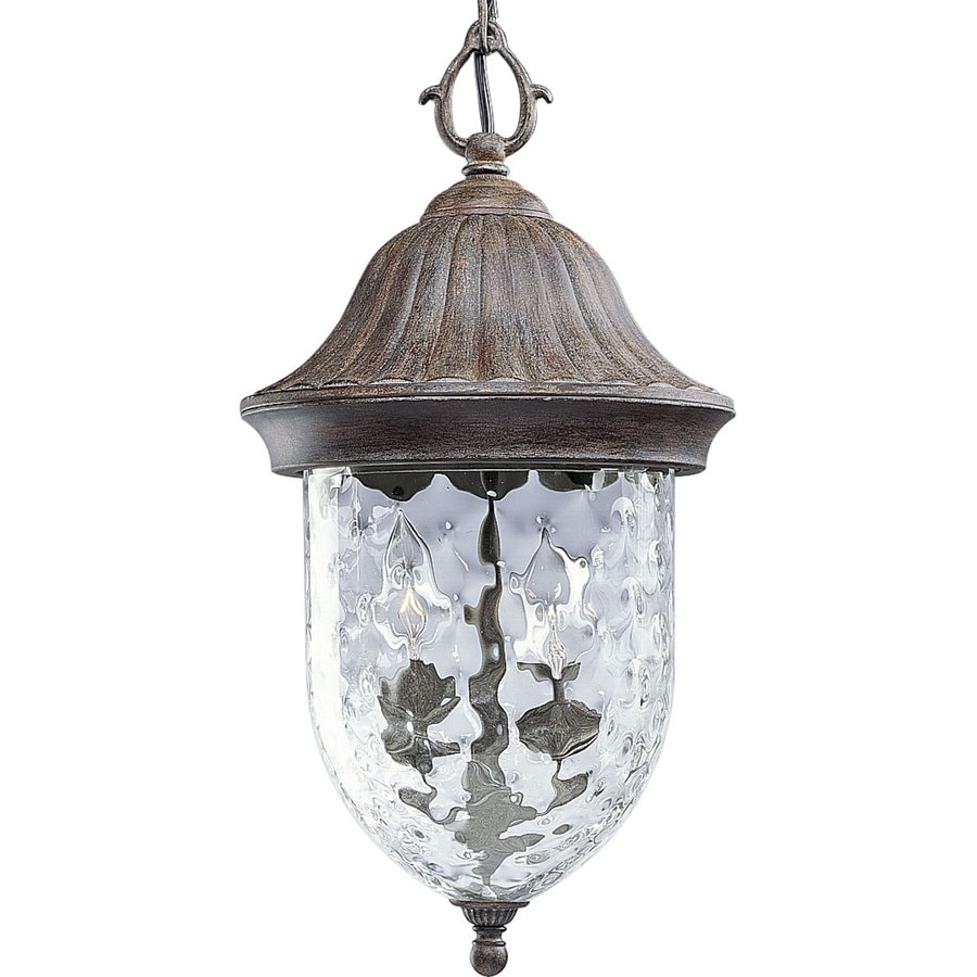 Progress Lighting Coventry 19.25-in Fieldstone Outdoor Pendant Light