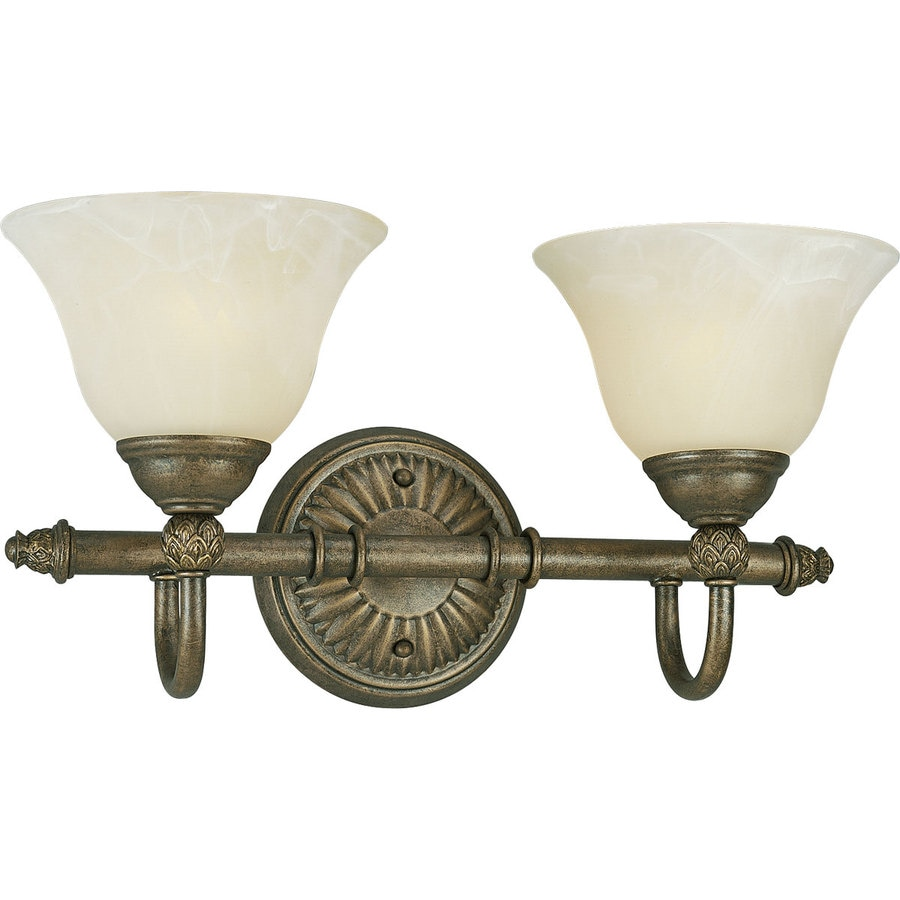 Progress Lighting Savannah 2-Light 9.125-in Burnished chestnut Bell Vanity Light