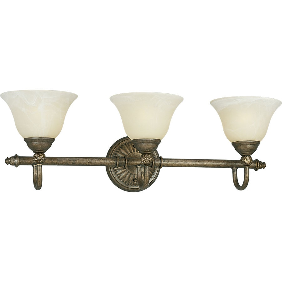 Progress Lighting Savannah 3-Light 9.125-in Burnished chestnut Bell Vanity Light