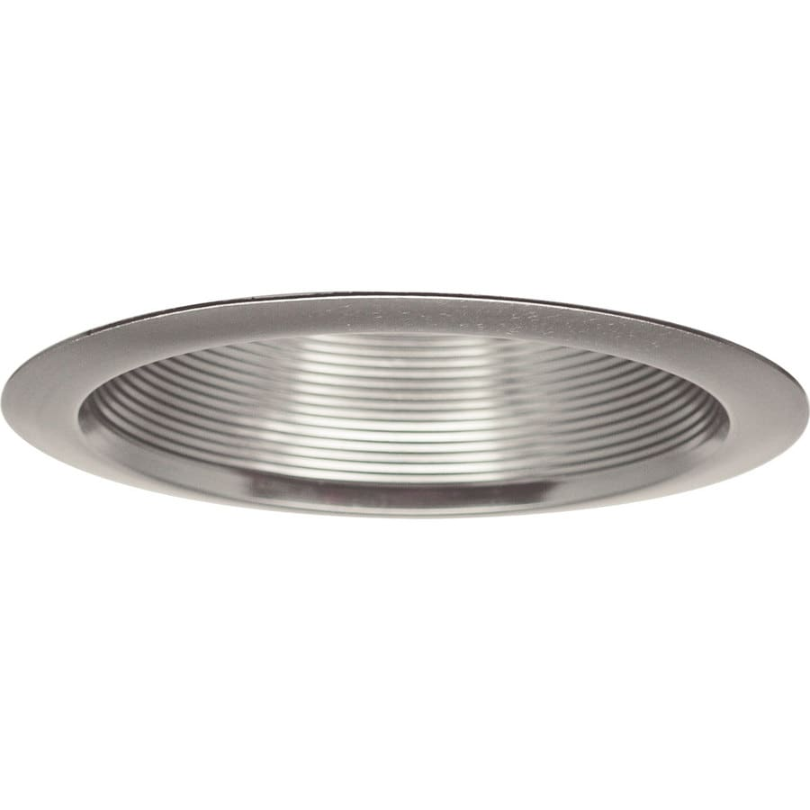 Progress Lighting Brushed Nickel Baffle Recessed Light Trim (Fits Housing Diameter: 6-in)