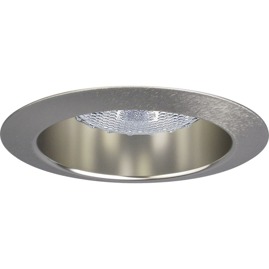 Shop Progress Lighting Brushed Nickel Reflector Recessed Light Trim Fits Hou
