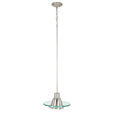 Gl Pendants Brushed Nickel Mini Transitional Clear Oval Pendant Light
