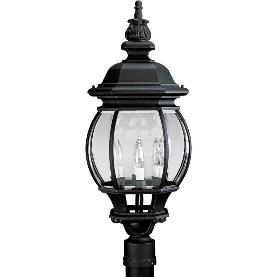 Progress Lighting Onion Lantern 27.75-in H Textured Black Post Light