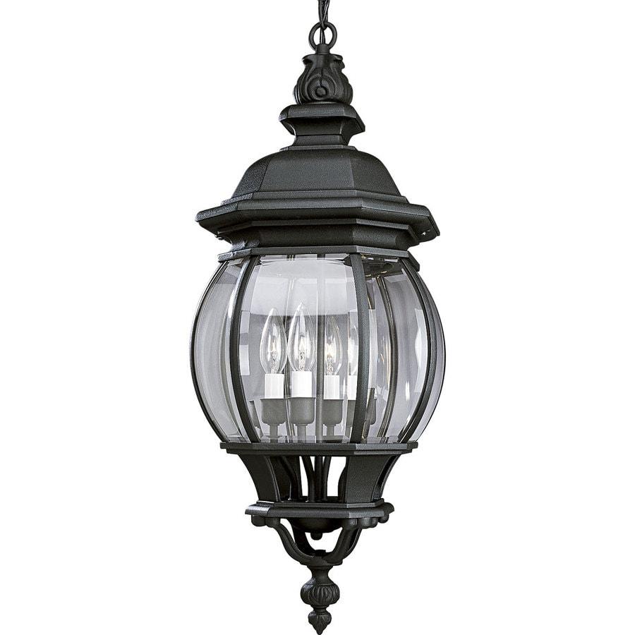Shop Progress Lighting Onion Lantern 28 In Textured Black