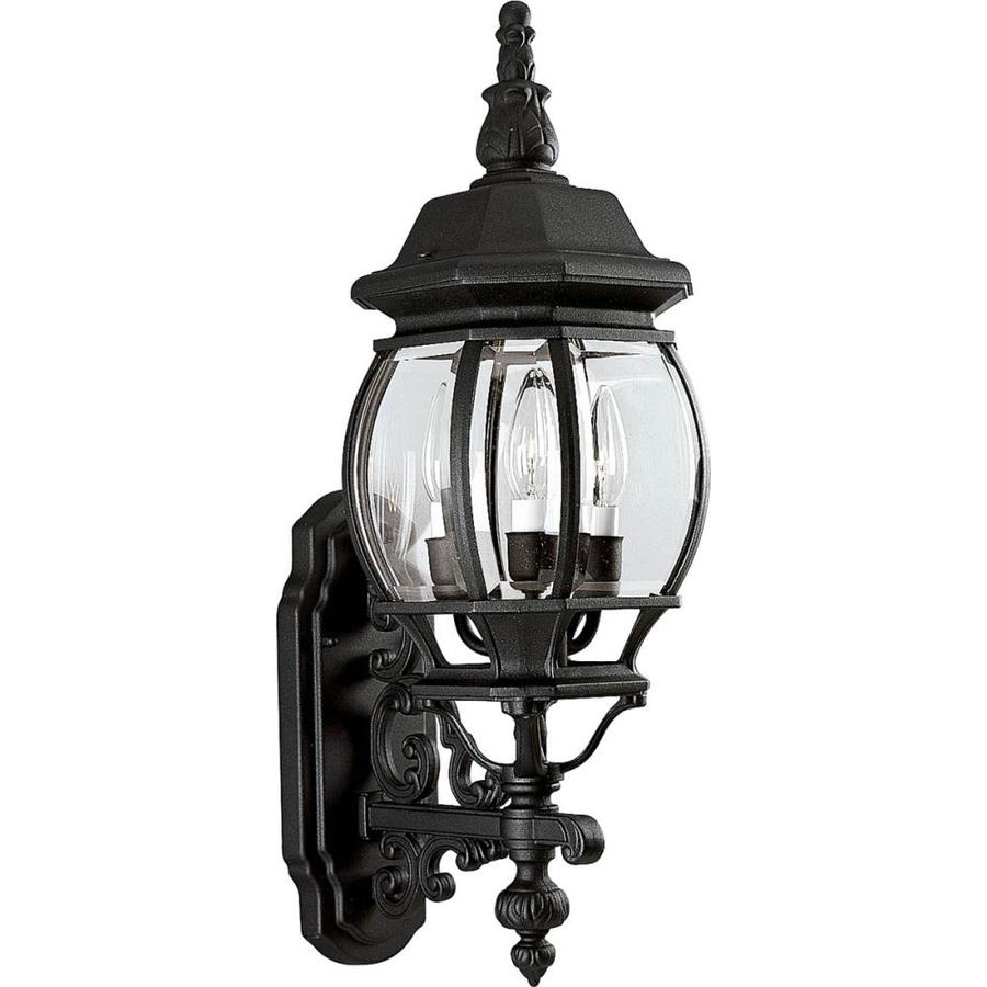 Shop Progress Lighting Onion Lantern 23.25-in H Textured Black Outdoor Wall Light at Lowes.com