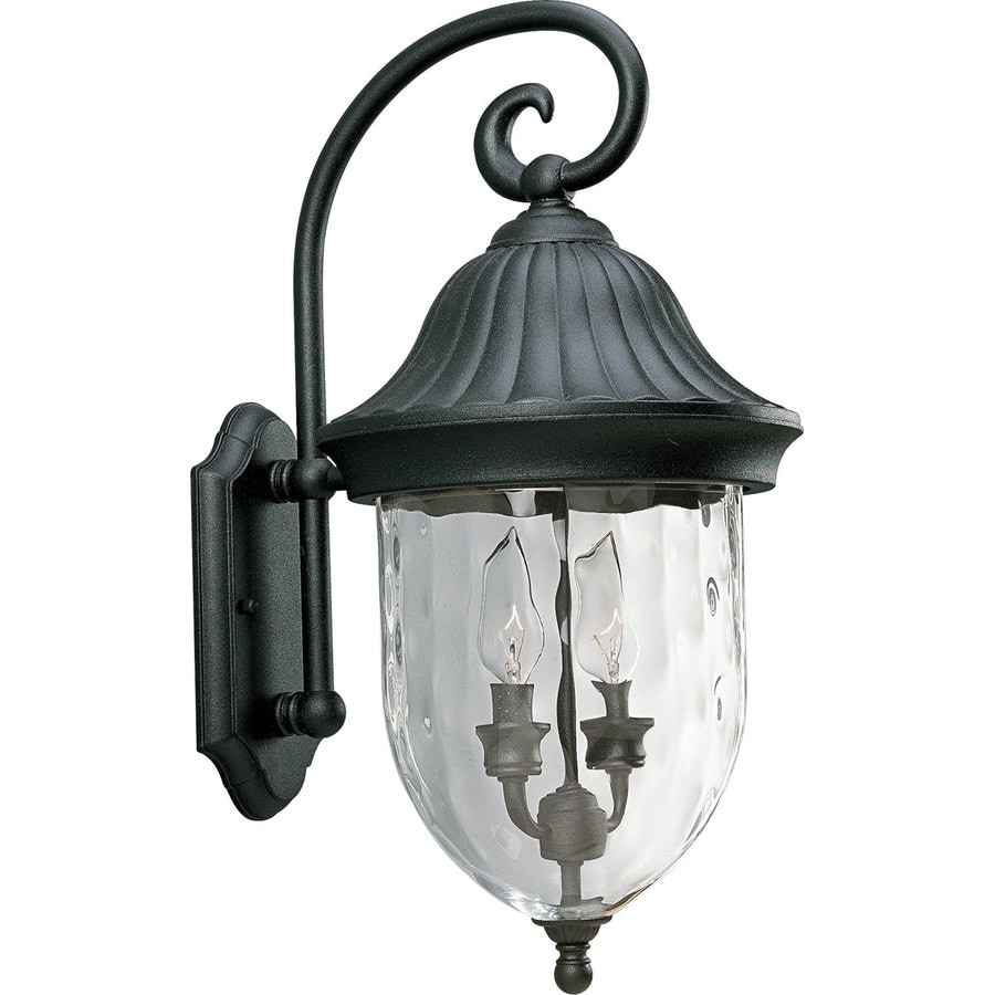 Progress Lighting Coventry 20.5-in H Textured Black Outdoor Wall Light