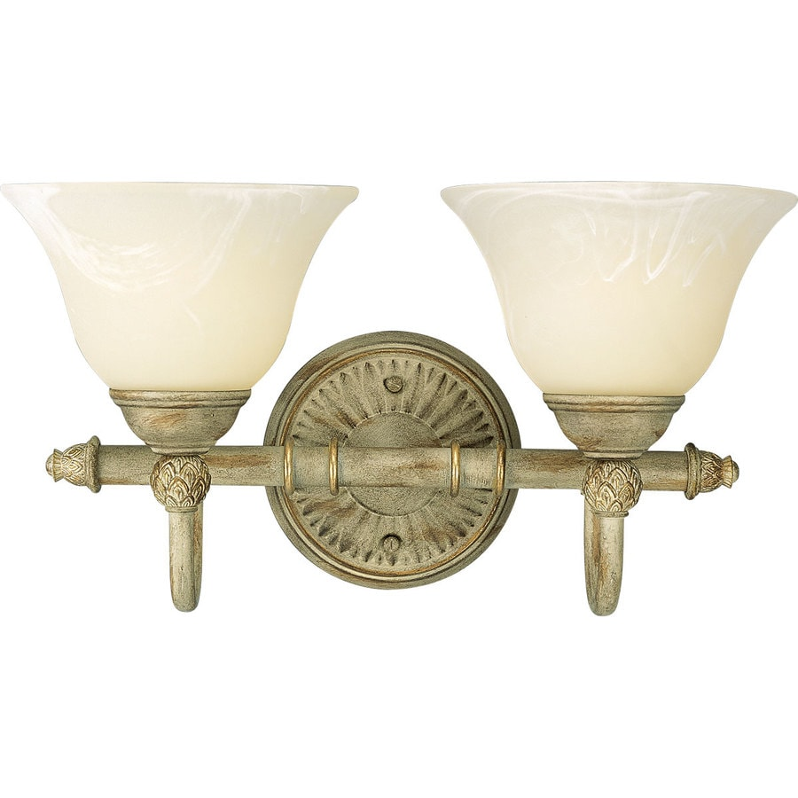 Progress Lighting Savannah 2-Light 9.125-in Seabrook Bell Vanity Light
