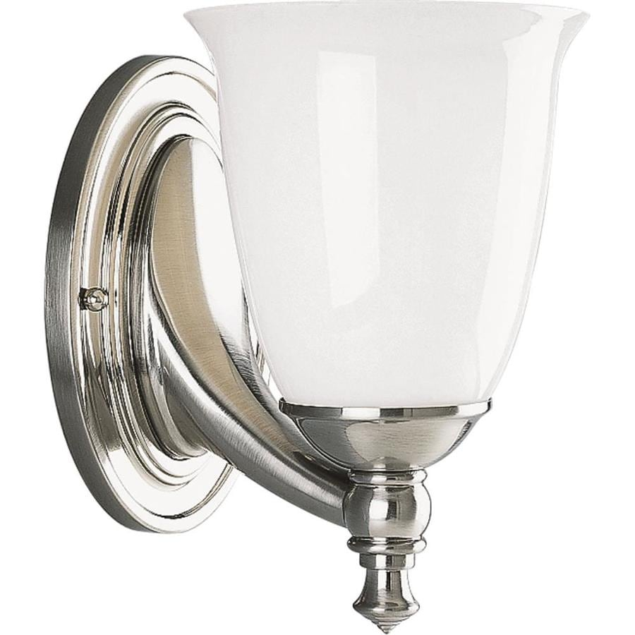 Progress Lighting Victorian 1-Light 8.5-in Brushed nickel Bell Vanity Light
