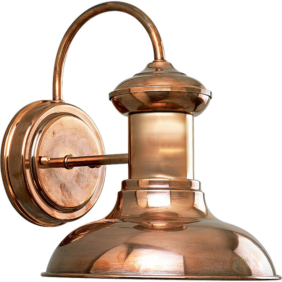 Progress Lighting Brookside 9.75-in H Copper Medium Base