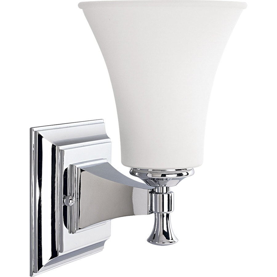 bathroom sconce lighting shop progress lighting fairfield 1 light 5 75 in chrome 11237