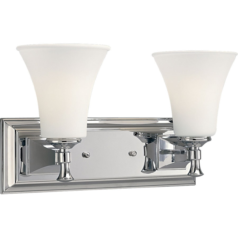 Progress Lighting Fairfield 2-Light 9-in Chrome Bell Vanity Light