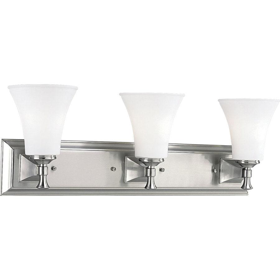 Progress Led Vanity Lights : Shop Progress Lighting Fairfield 3-Light 9-in Brushed Nickel Bell Vanity Light at Lowes.com