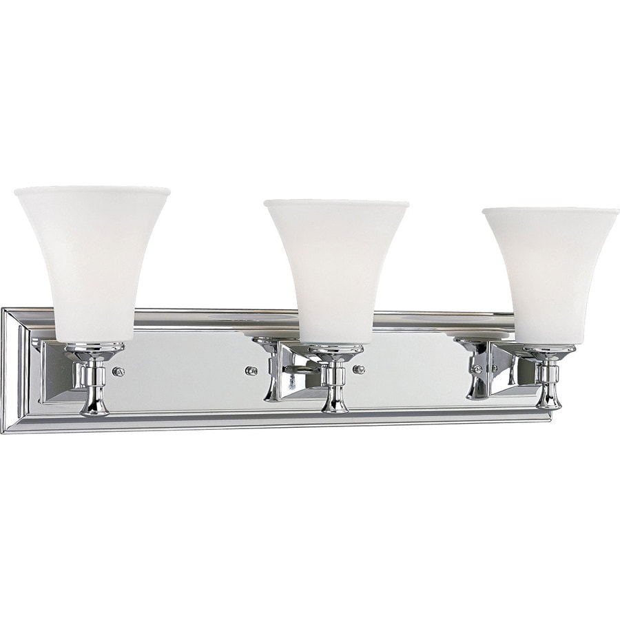 Shop Progress Lighting Fairfield 3 Light 25 In Chrome Bell Vanity Light At