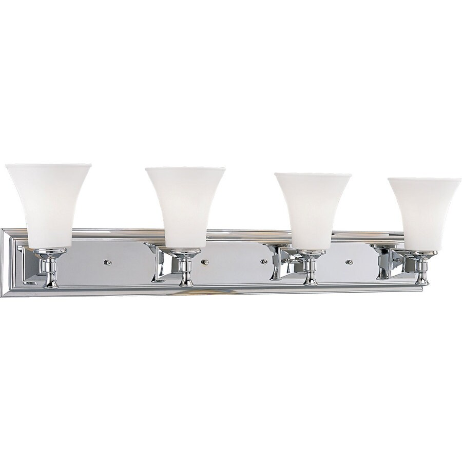 Progress Lighting Fairfield 4-Light 9-in Chrome Bell Vanity Light