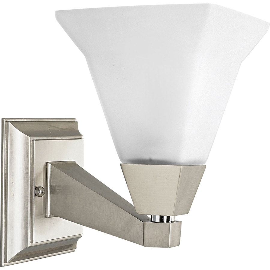 Progress lighting glenmont 1 light brushed nickel - 8 light bathroom fixture brushed nickel ...