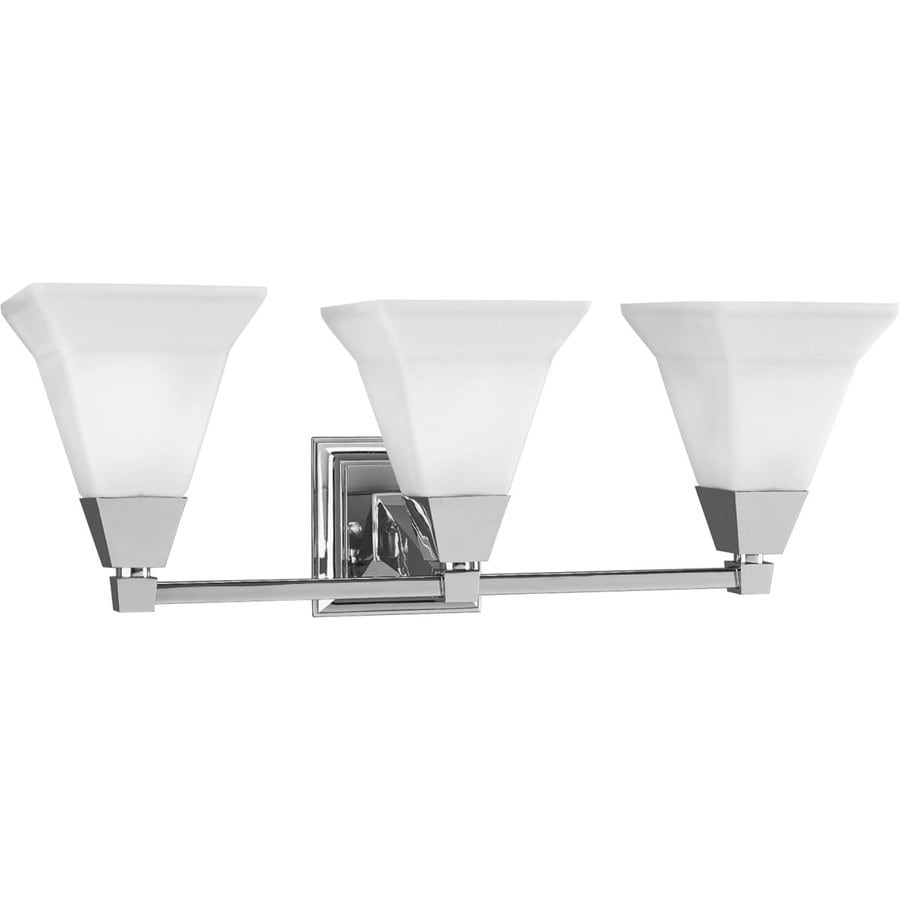 Progress Lighting Glenmont 3-Light 8.75-in Chrome Square Vanity Light