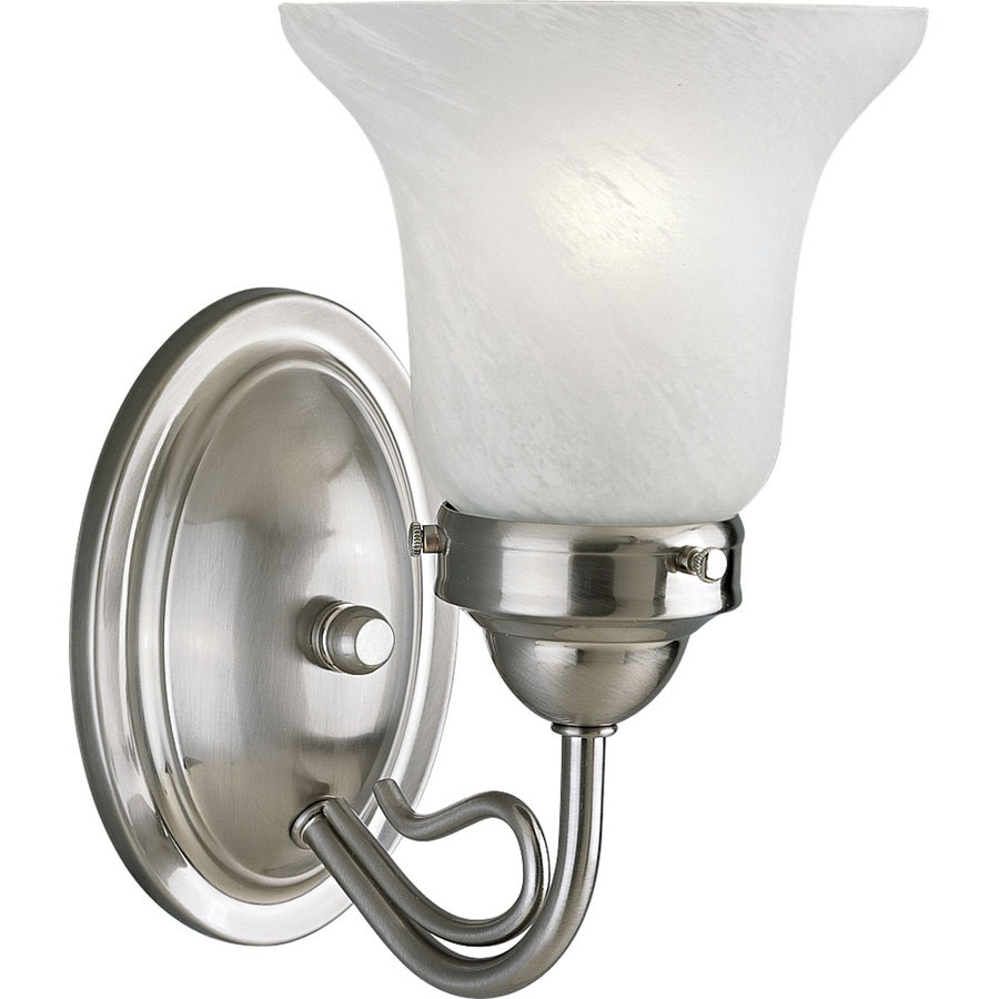 Progress Lighting Bedford 1-Light 8.5-in Brushed Nickel Bell Vanity Light