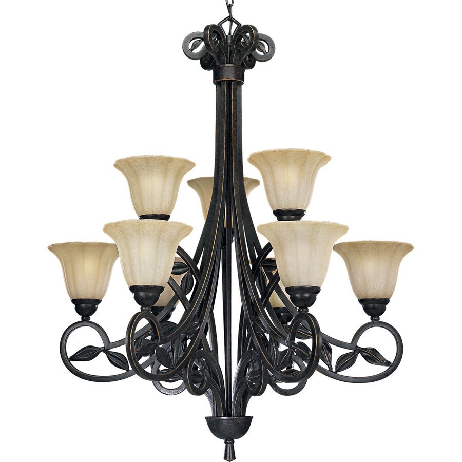 Shop Progress Lighting Le Jardin 32 in 9 Light Espresso Craftsman