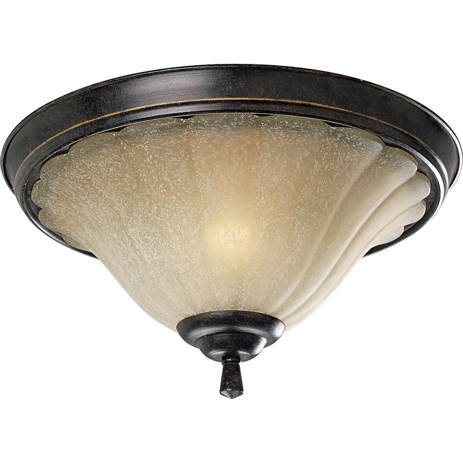 Progress Lighting Le Jardin 15-in W Espresso Flush Mount Light