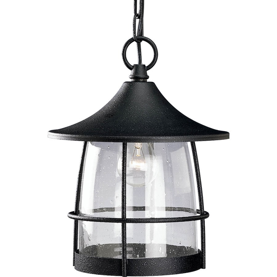 Progress Lighting Prairie 12.5-in Gilded Iron Outdoor Pendant Light