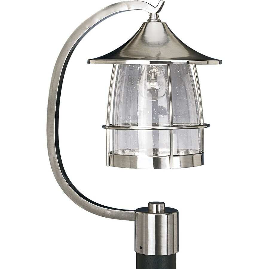 Progress Lighting Prairie 18.75-in H Brushed Nickel Post Light