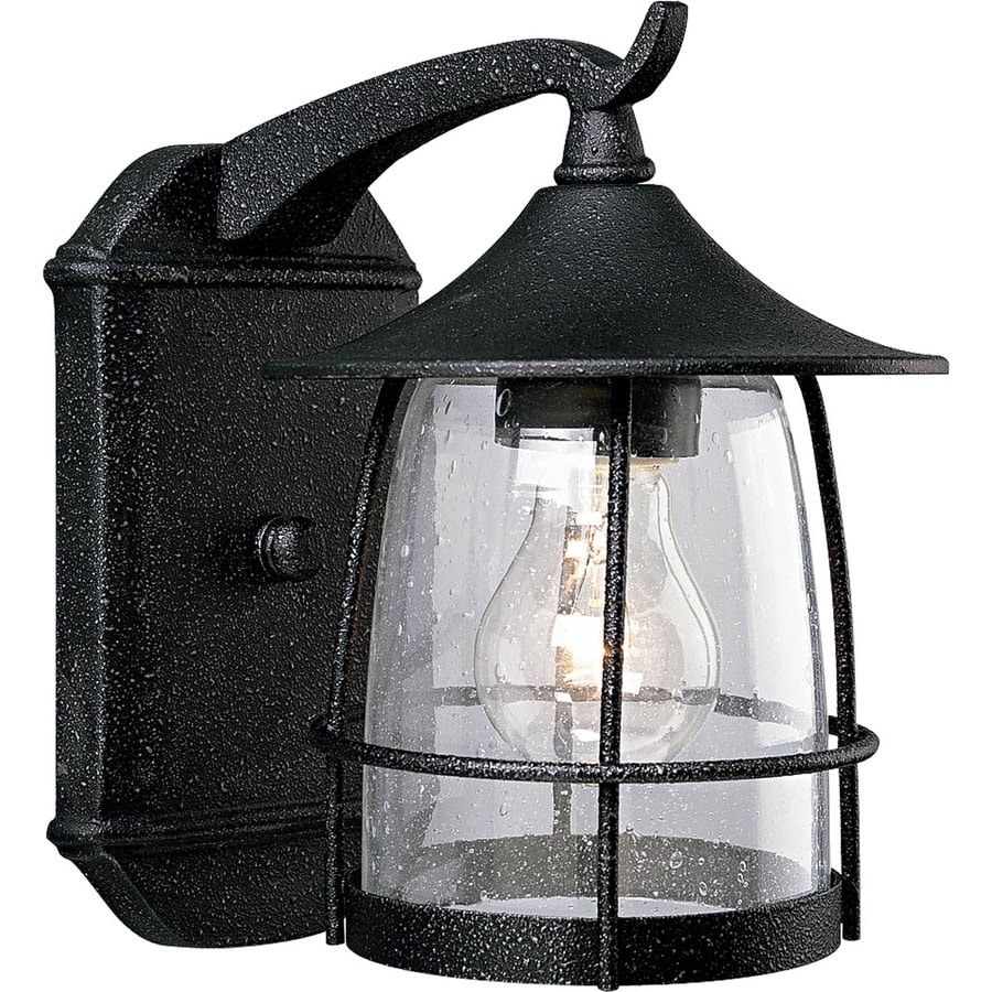 Shop Progress Lighting Prairie 9.12-in H Gilded Iron Outdoor Wall Light at Lowes.com