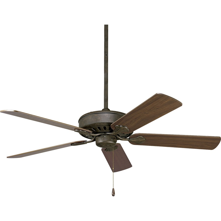 Progress Lighting AirPro Performance 52-in Weathered Bronze Downrod or Close Mount Indoor Ceiling Fan ENERGY STAR