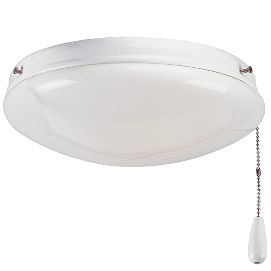Progress Lighting Airpro 2-Light White Incandescent Ceiling Fan Light Kit with Frosted Glass
