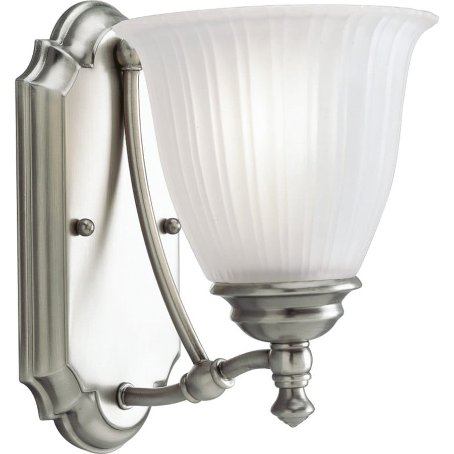 Progress Lighting Renovations 1-Light 9-in Antique Nickel Bell Vanity Light
