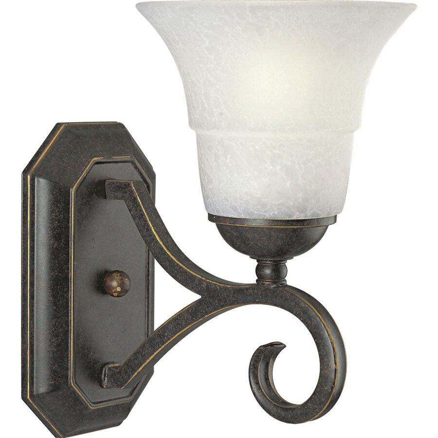 Progress Lighting Melbourne 6.375-in W 1-Light Espresso Arm Wall Sconce