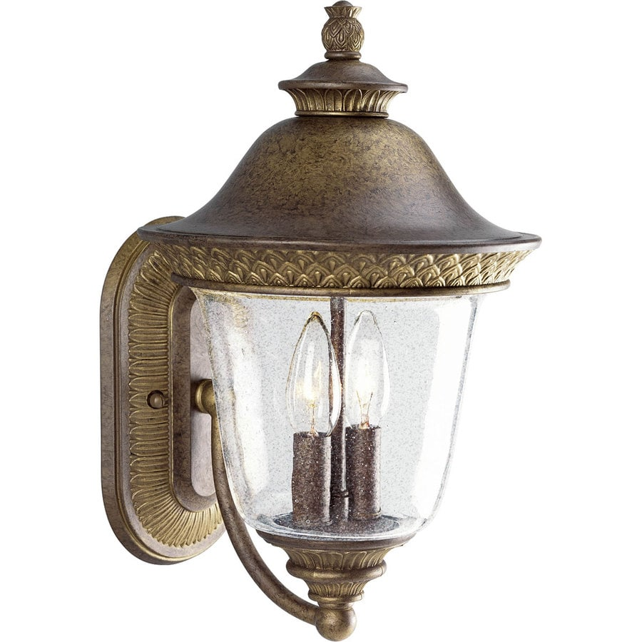 Progress Lighting Savannah 15.25-in H Burnished Chestnut Outdoor Wall Light