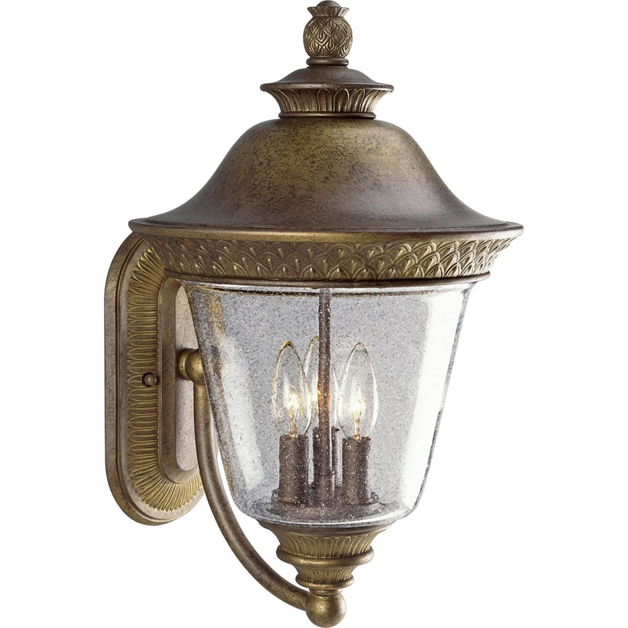 Progress Lighting Savannah 18.87-in H Burnished Chestnut Outdoor Wall Light