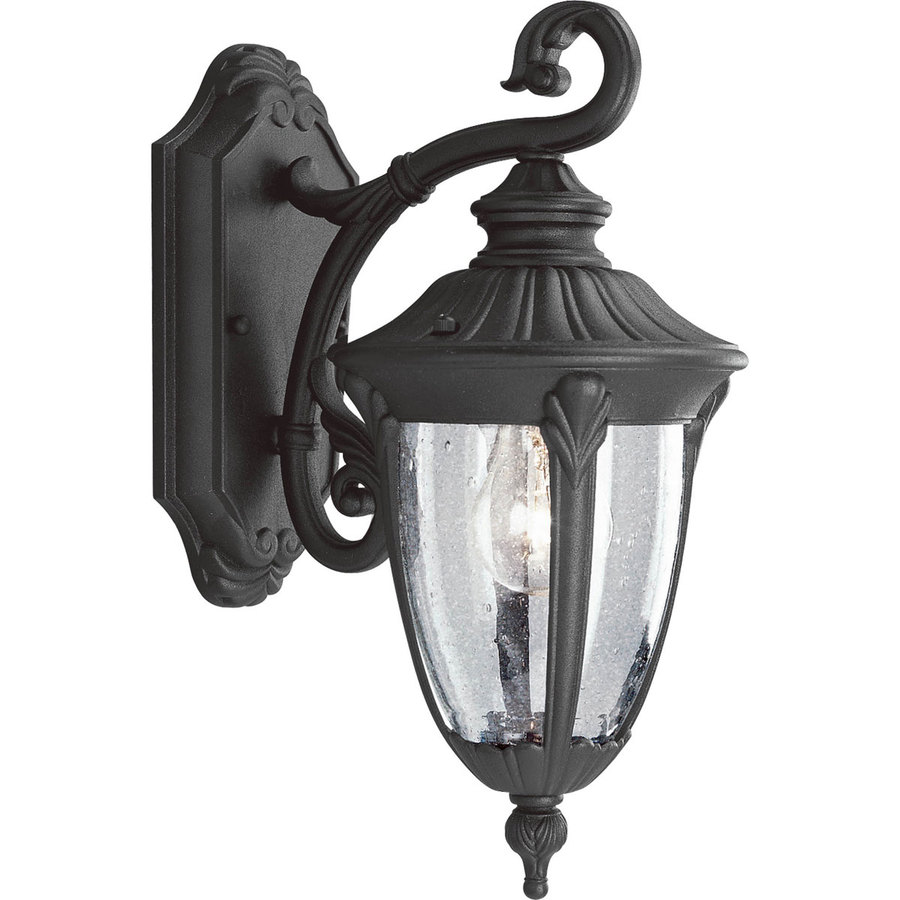 Progress Lighting Meridian 14.87-in H Textured Black Outdoor Wall Light