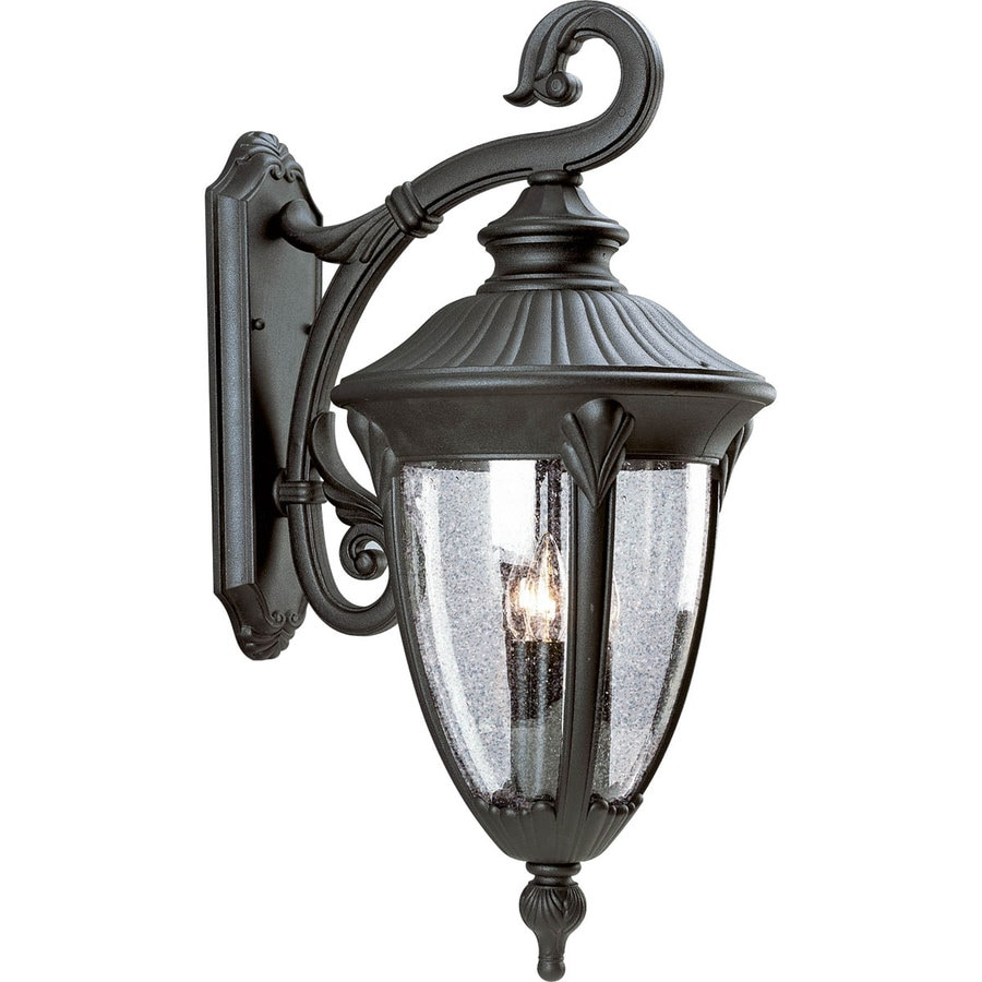 Progress Lighting Meridian 27-in H Textured Black Outdoor Wall Light