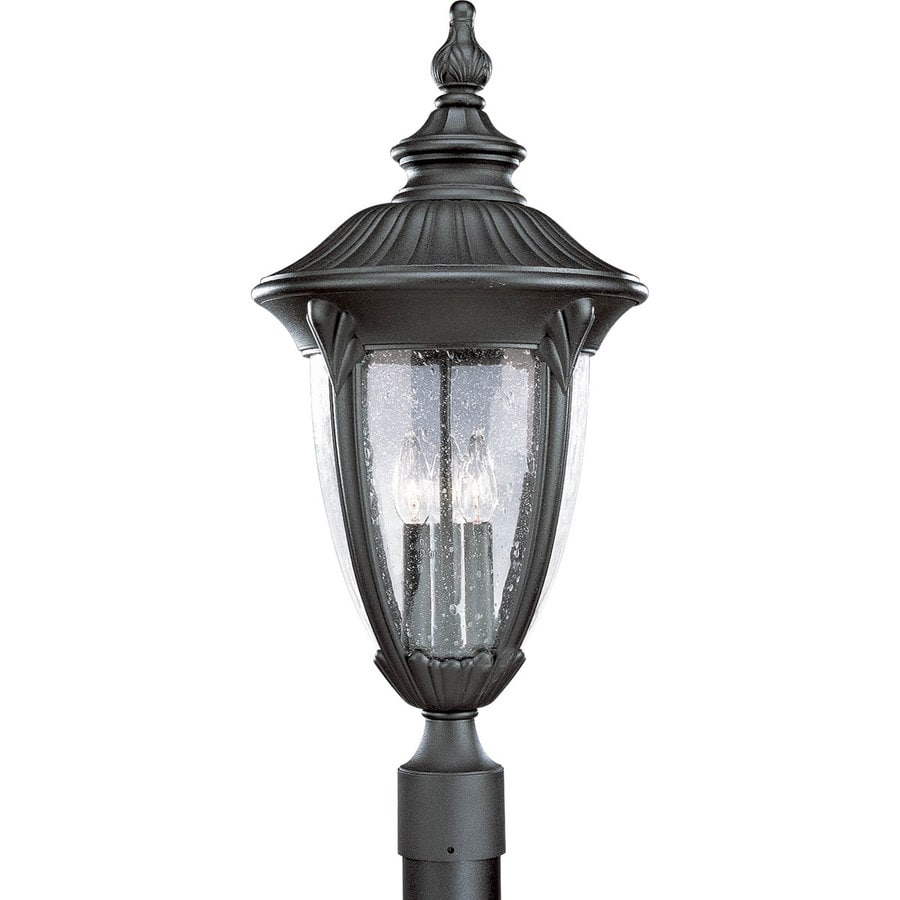 Progress Lighting Meridian 25.87-in H Textured Black Post Light
