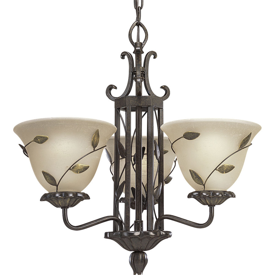 Progress Lighting Eden 3 Light Forged Bronze Chandelier