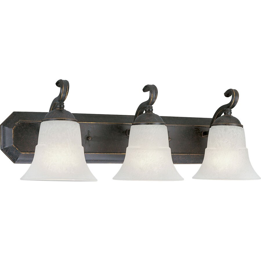 Progress Lighting Melbourne 3-Light 8.5-in Espresso Bell Vanity Light