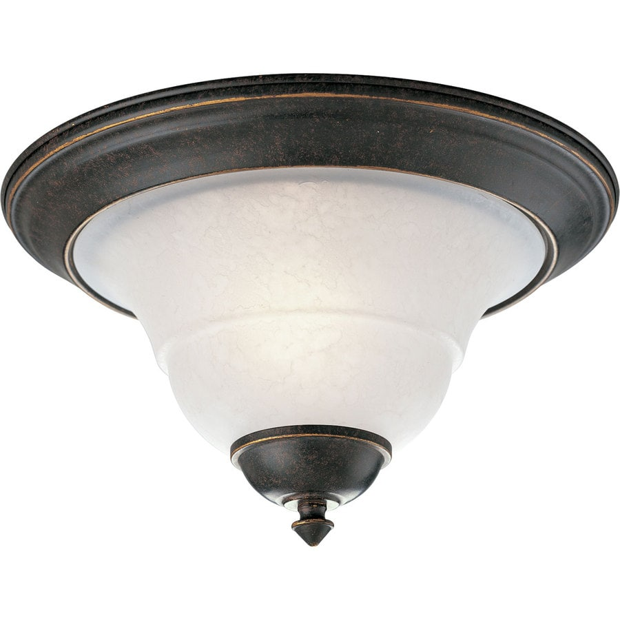 Progress Lighting Melbourne 12-in W Espresso Flush Mount Light