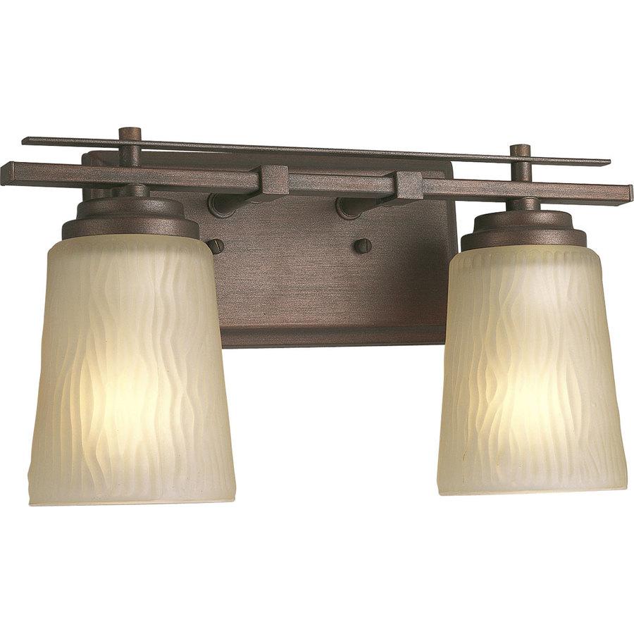Progress Lighting Riverside 2-Light Heirloom Cylinder Vanity Light