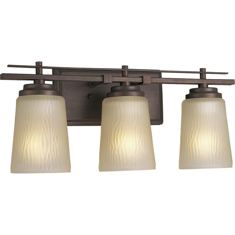 Progress Lighting Riverside 3-Light 8-in Heirloom Cylinder Vanity Light