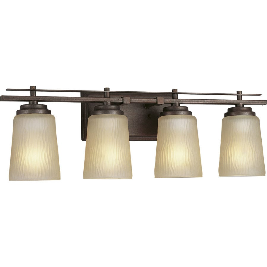 Progress Lighting Riverside 4-Light 8-in Heirloom Cylinder Vanity Light